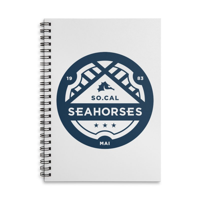 Seahorse Crest - Navy Accessories Lined Spiral Notebook by SEAHORSE SOCCER's Artist Shop