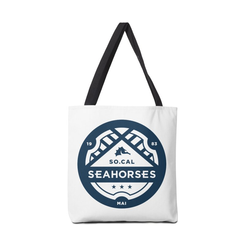 Seahorse Crest - Navy Accessories Tote Bag Bag by SEAHORSE SOCCER's Artist Shop