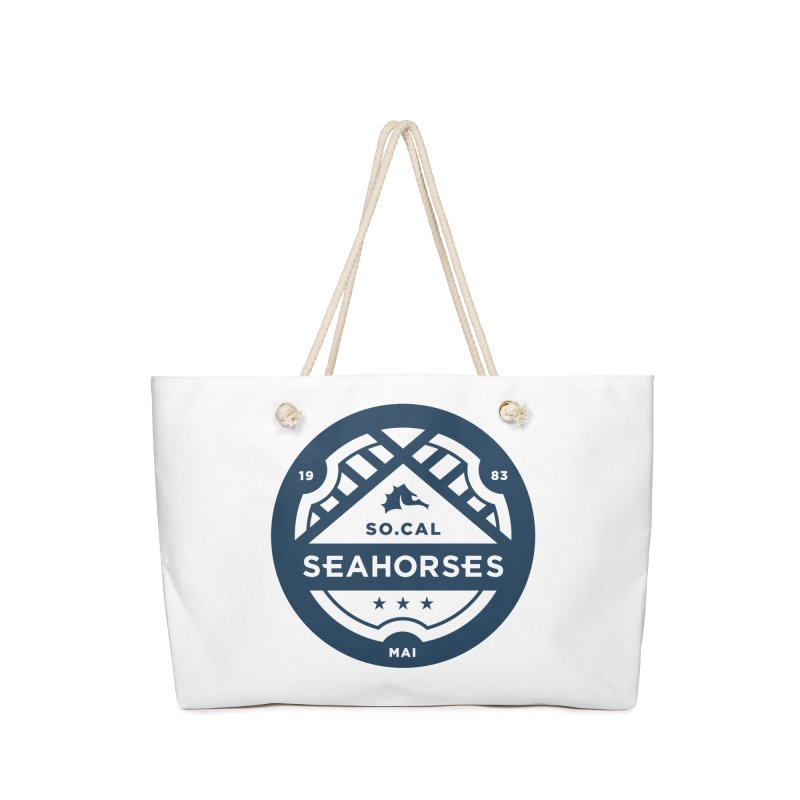 Seahorse Crest - Navy Accessories Bag by SEAHORSE SOCCER's Artist Shop