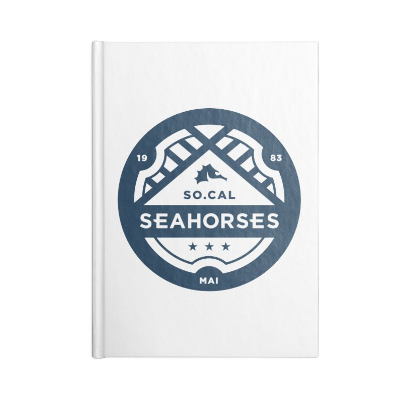 Seahorse Crest - Navy Accessories Lined Journal Notebook by SEAHORSE SOCCER's Artist Shop