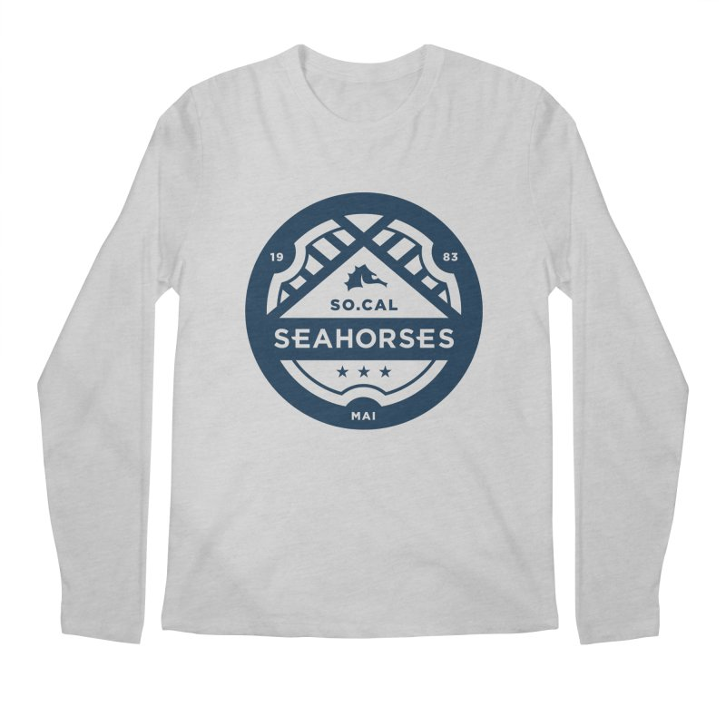 Seahorse Crest - Navy Men's Longsleeve T-Shirt by SEAHORSE SOCCER's Artist Shop