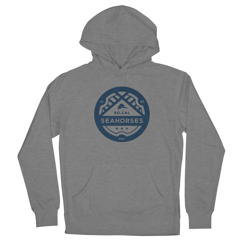 Seahorse Crest - Navy Men's Pullover Hoody by SEAHORSE SOCCER's Artist Shop