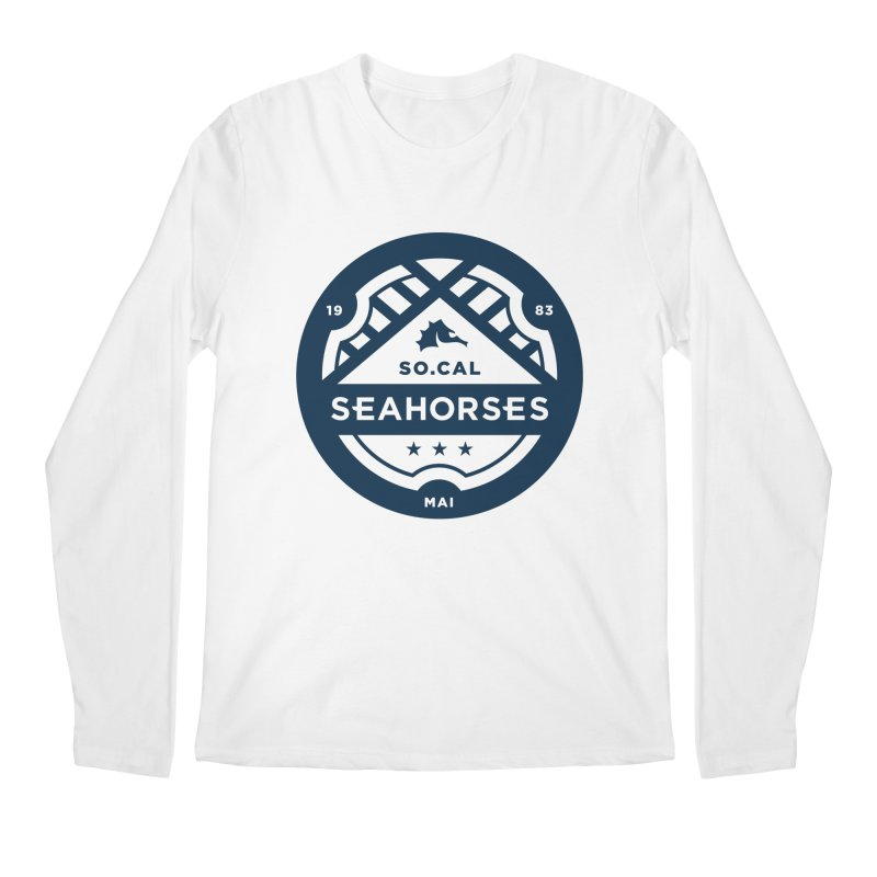 Seahorse Crest - Navy Men's Regular Longsleeve T-Shirt by SEAHORSE SOCCER's Artist Shop