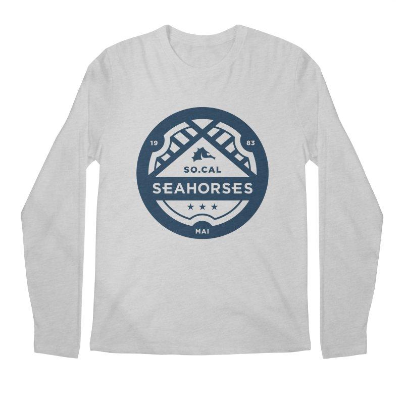 Seahorse Crest - Navy Men's Longsleeve T-Shirt by SEAHORSE SOCCER's Artist Shop