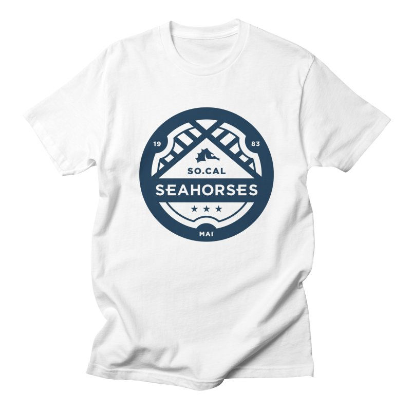 Seahorse Crest - Navy Men's Regular T-Shirt by SEAHORSE SOCCER's Artist Shop