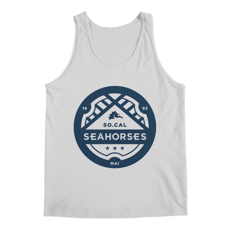 Seahorse Crest - Navy Men's Regular Tank by SEAHORSE SOCCER's Artist Shop