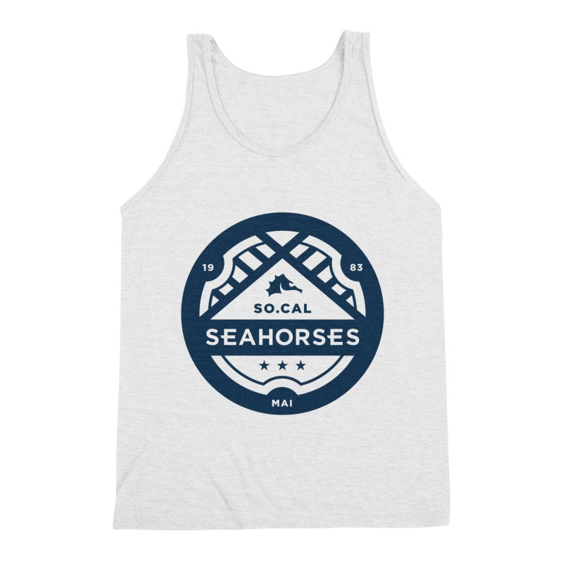 Seahorse Crest - Navy Men's Triblend Tank by SEAHORSE SOCCER's Artist Shop