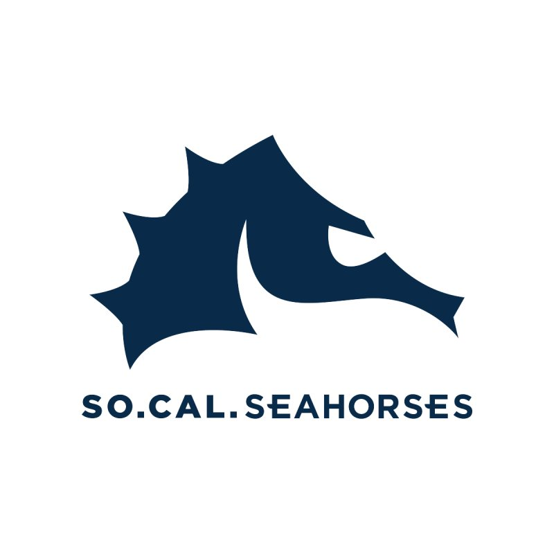 Seahorse Mascot / Wordmark - Navy Men's T-Shirt by SEAHORSE SOCCER's Artist Shop