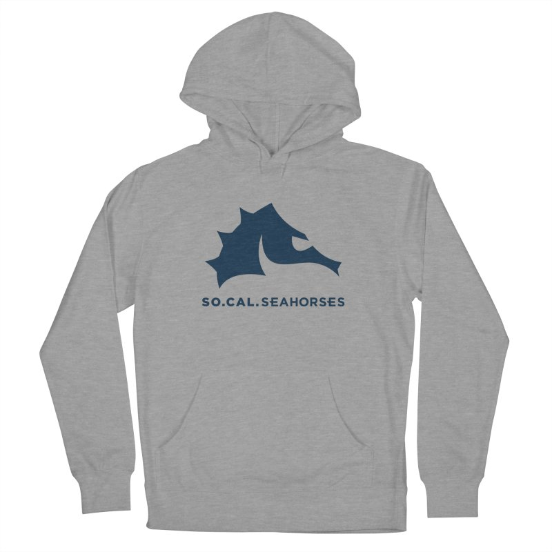 Seahorse Mascot / Wordmark - Navy Men's Pullover Hoody by SEAHORSE SOCCER's Artist Shop