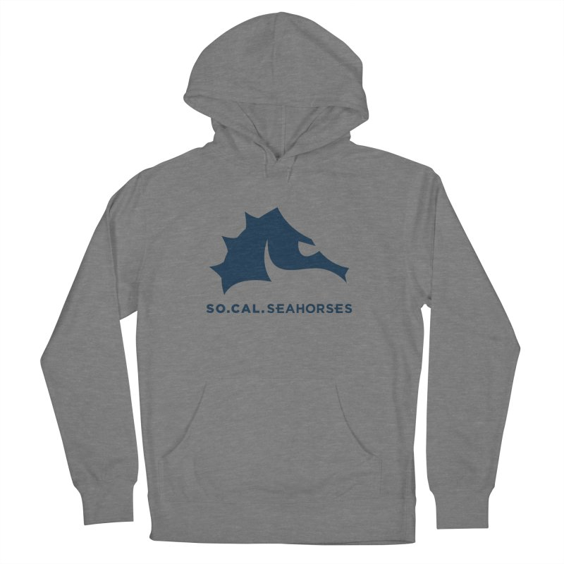 Seahorse Mascot / Wordmark - Navy Women's French Terry Pullover Hoody by SEAHORSE SOCCER's Artist Shop