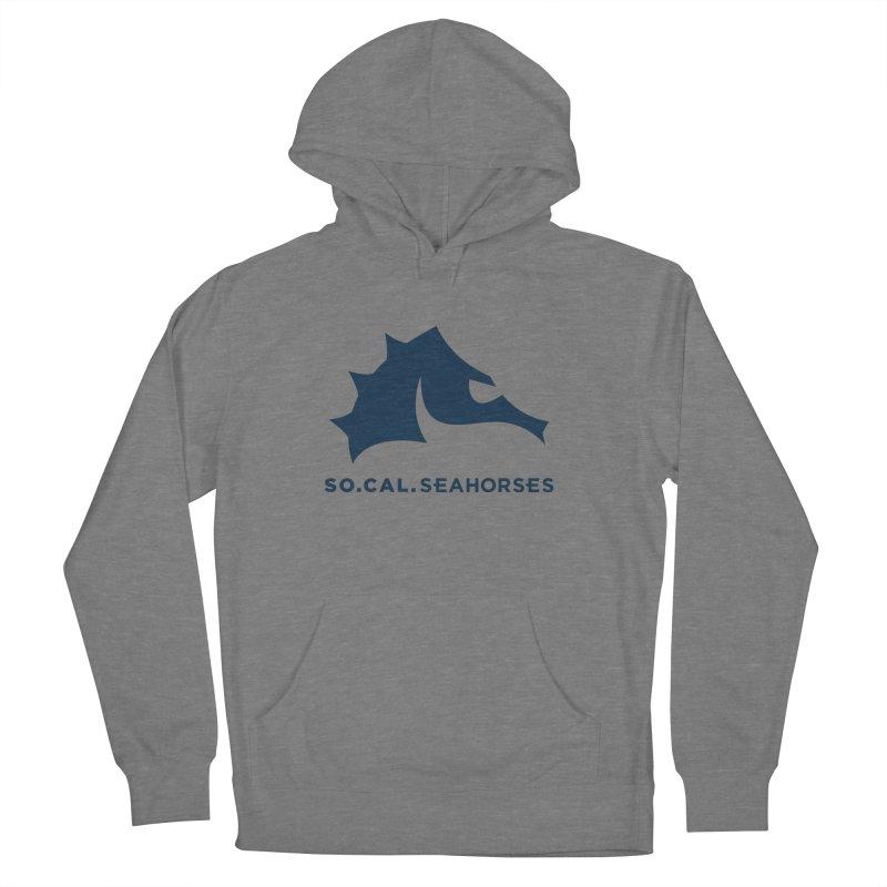 Seahorse Mascot / Wordmark - Navy Men's Pullover Hoody by SEAHORSE SOCCER's Artist Shop