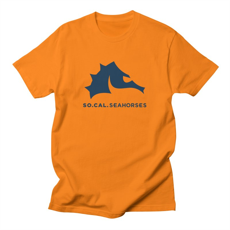Seahorse Mascot / Wordmark - Navy Men's T-Shirt by SEAHORSE SOCCER's Artist Shop