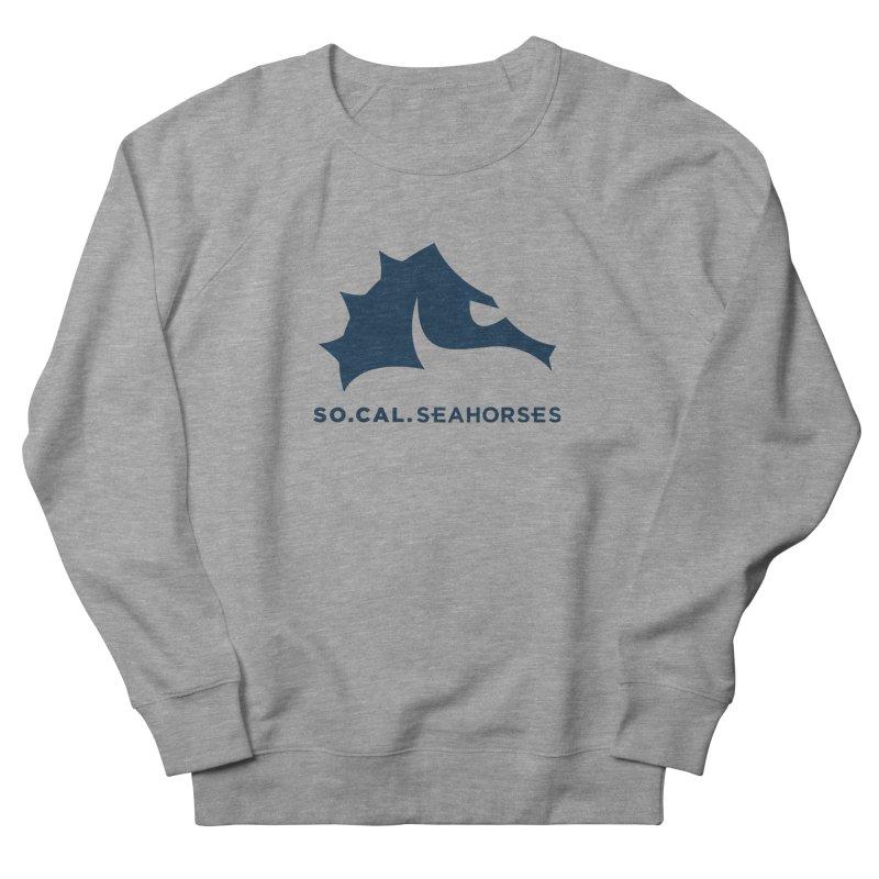 Seahorse Mascot / Wordmark - Navy Women's French Terry Sweatshirt by SEAHORSE SOCCER's Artist Shop