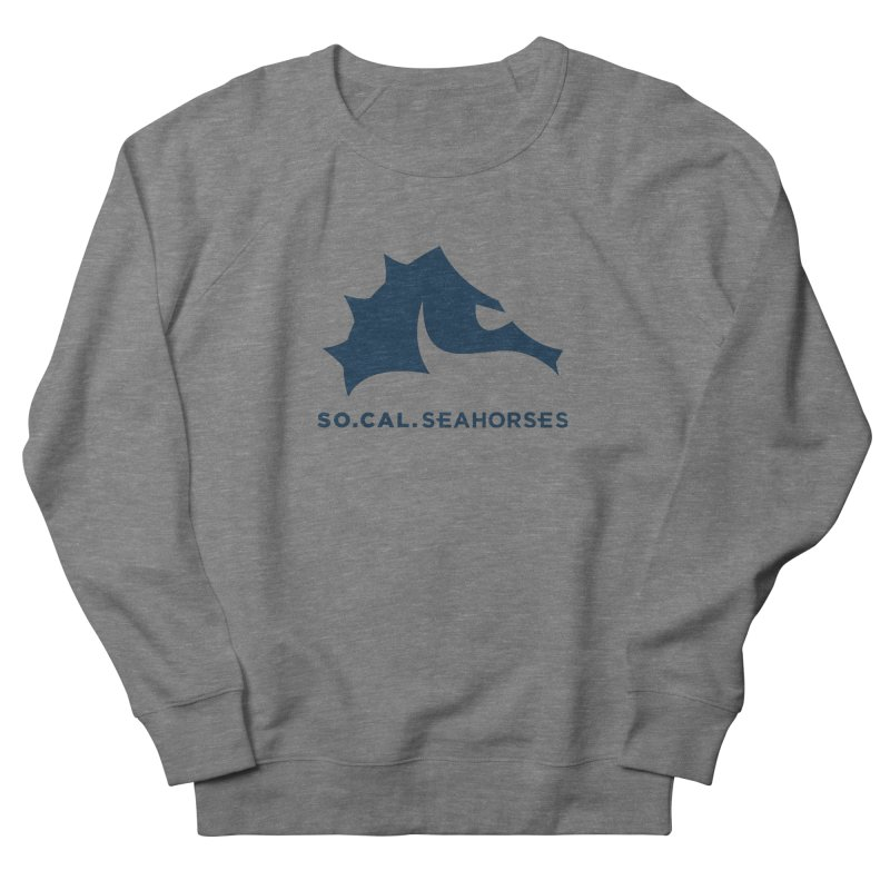 Seahorse Mascot / Wordmark - Navy Men's French Terry Sweatshirt by SEAHORSE SOCCER's Artist Shop