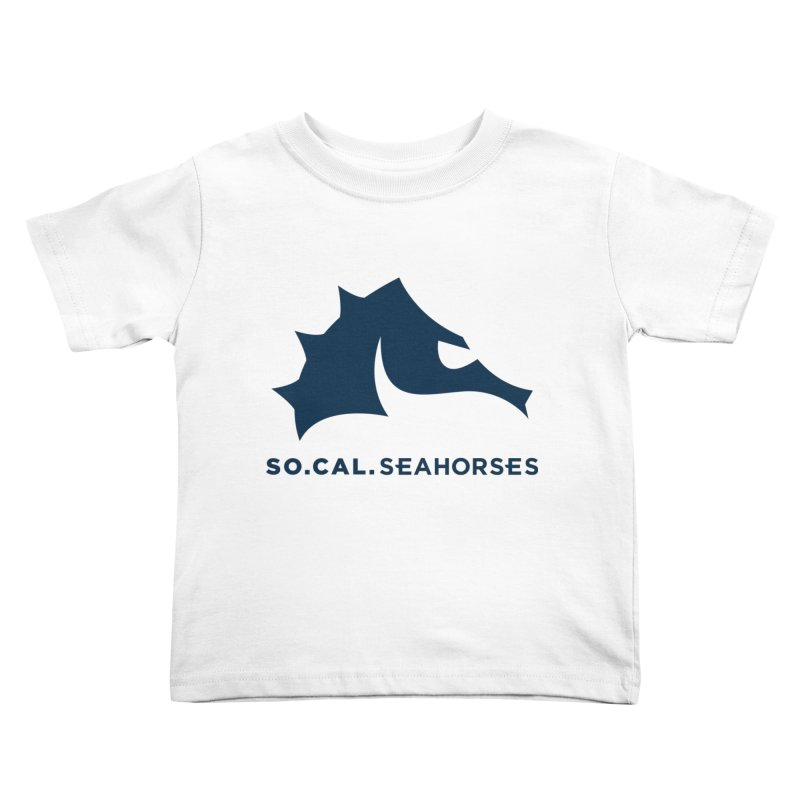 Seahorse Mascot / Wordmark - Navy Kids Toddler T-Shirt by SEAHORSE SOCCER's Artist Shop