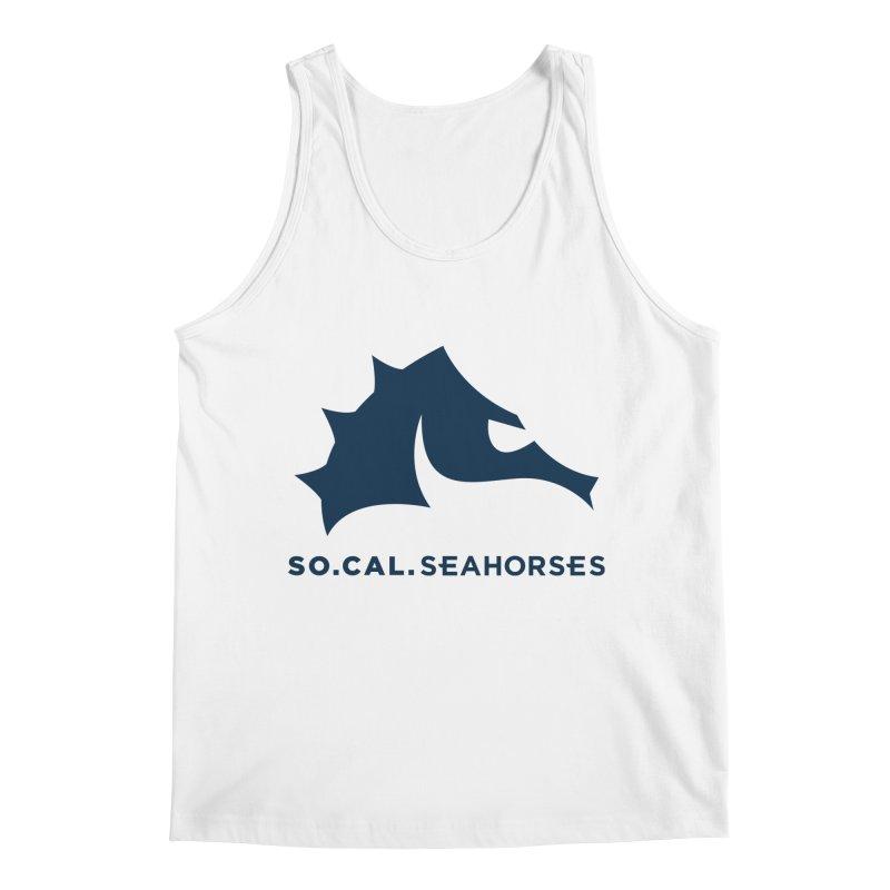 Seahorse Mascot / Wordmark - Navy Men's Regular Tank by SEAHORSE SOCCER's Artist Shop