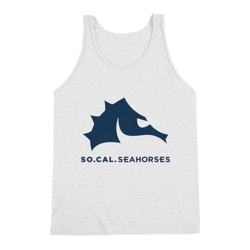 Seahorse Mascot / Wordmark - Navy Men's Tank by SEAHORSE SOCCER's Artist Shop