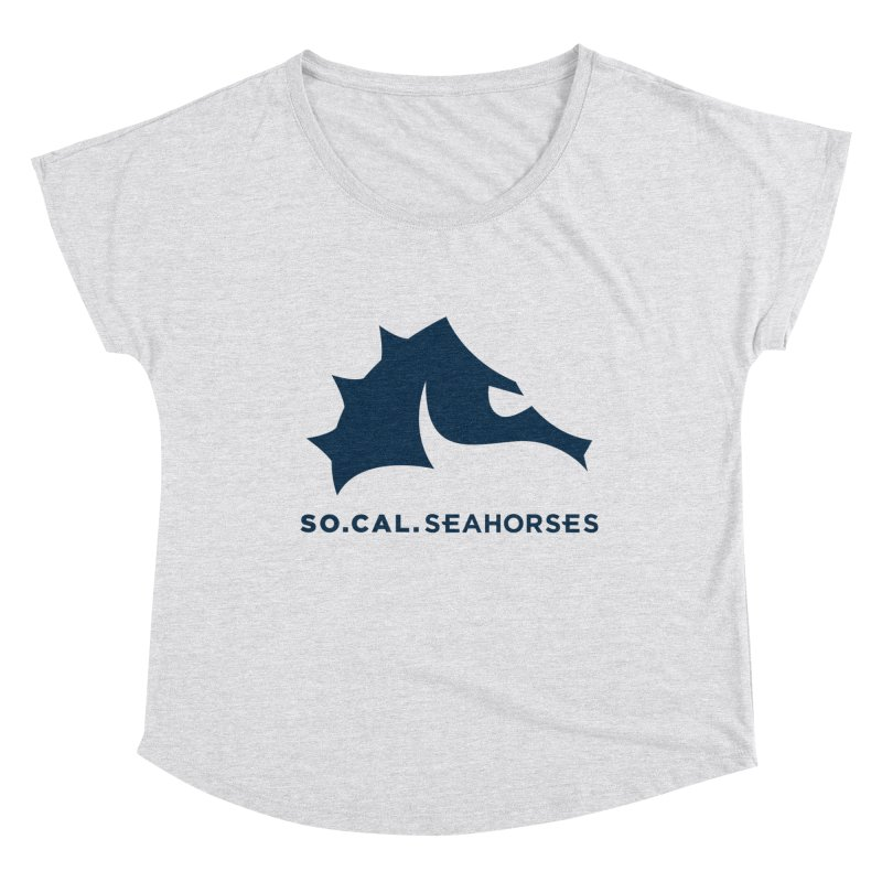 Seahorse Mascot / Wordmark - Navy Women's Scoop Neck by SEAHORSE SOCCER's Artist Shop