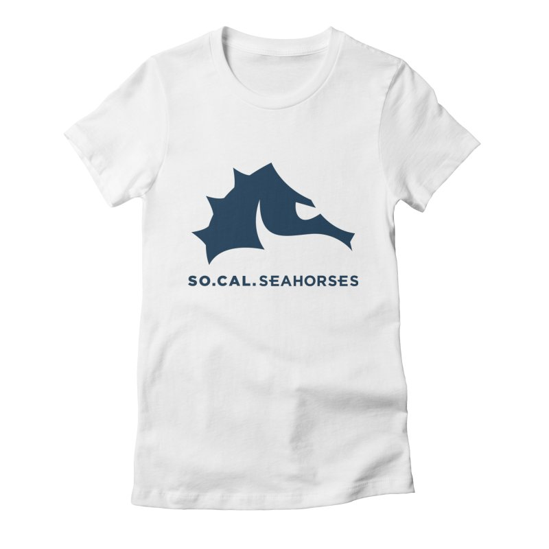 Seahorse Mascot / Wordmark - Navy Women's T-Shirt by SEAHORSE SOCCER's Artist Shop