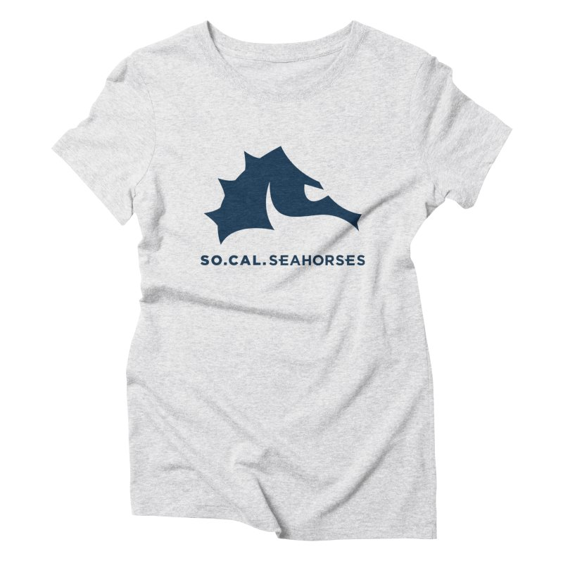 Seahorse Mascot / Wordmark - Navy Women's Triblend T-Shirt by SEAHORSE SOCCER's Artist Shop
