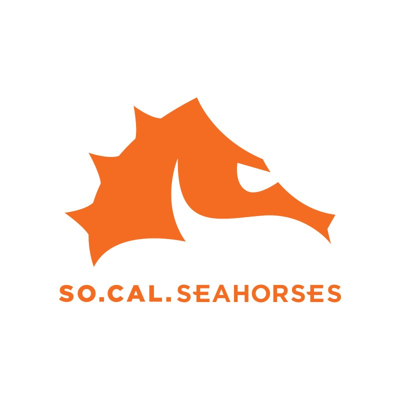 Seahorses Mascot / Watermark - Orange Women's Sweatshirt by SEAHORSE SOCCER's Artist Shop