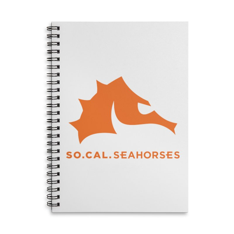 Seahorses Mascot / Watermark - Orange Accessories Lined Spiral Notebook by SEAHORSE SOCCER's Artist Shop