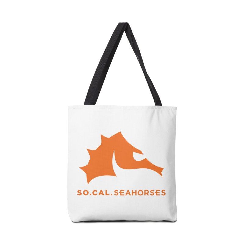 Seahorses Mascot / Watermark - Orange Accessories Tote Bag Bag by SEAHORSE SOCCER's Artist Shop
