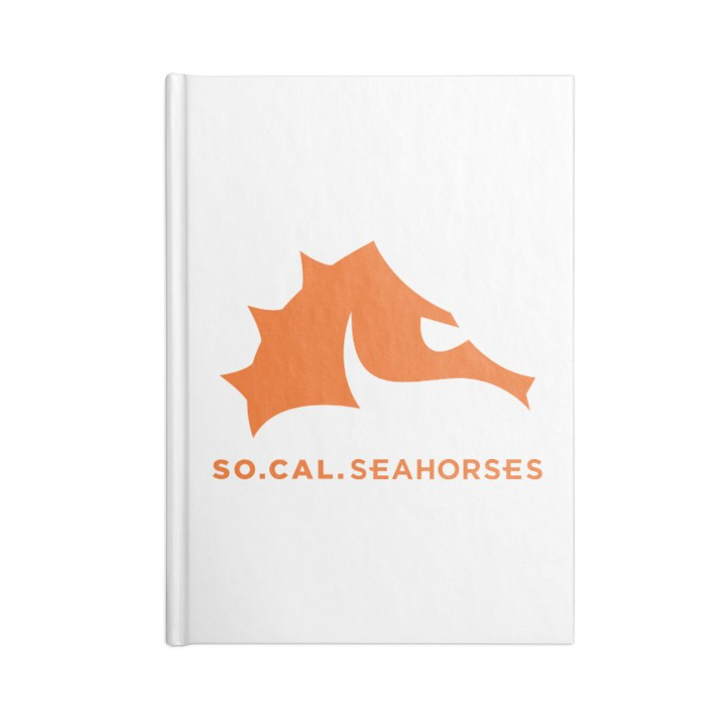 Seahorses Mascot / Watermark - Orange Accessories Blank Journal Notebook by SEAHORSE SOCCER's Artist Shop