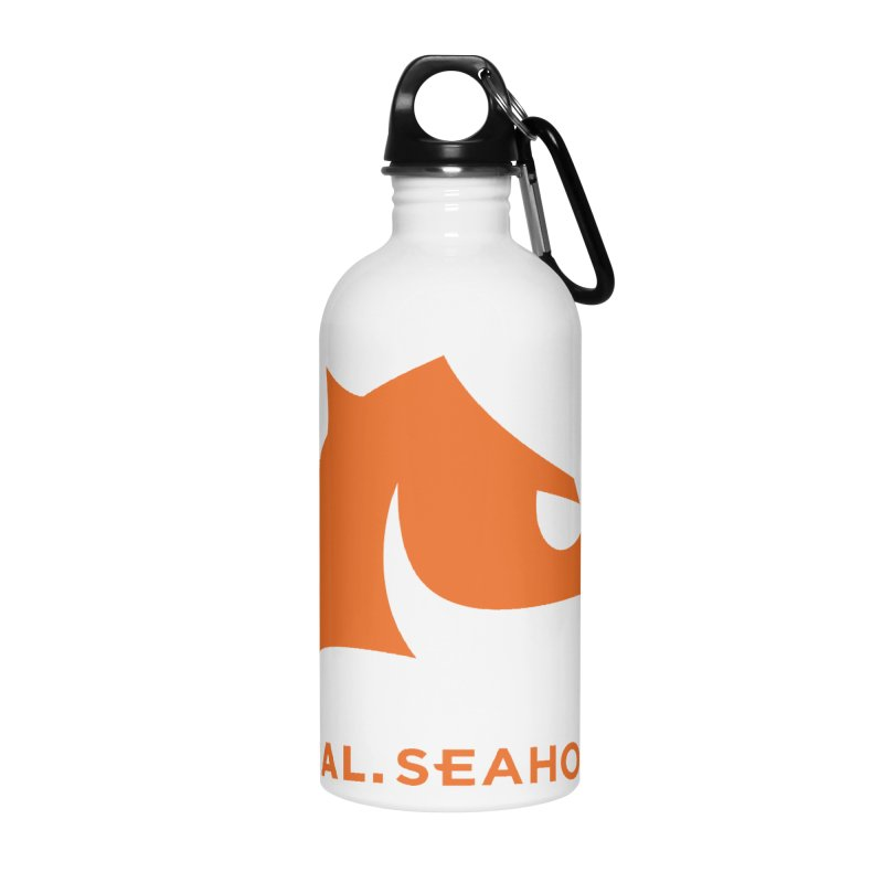 Seahorses Mascot / Watermark - Orange Accessories Water Bottle by SEAHORSE SOCCER's Artist Shop
