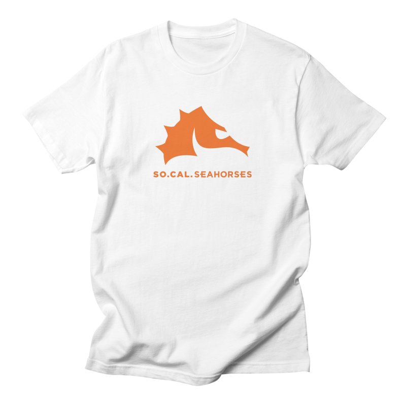 Seahorses Mascot / Watermark - Orange Men's T-Shirt by SEAHORSE SOCCER's Artist Shop