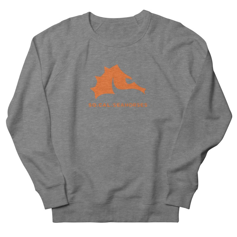 Seahorses Mascot / Watermark - Orange Women's French Terry Sweatshirt by SEAHORSE SOCCER's Artist Shop