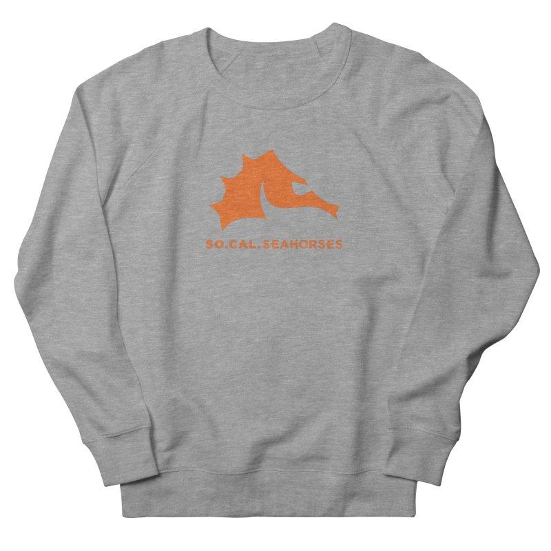 Seahorses Mascot / Watermark - Orange Women's French Terry Sweatshirt by SEAHORSE SOCCER's Artist Shop