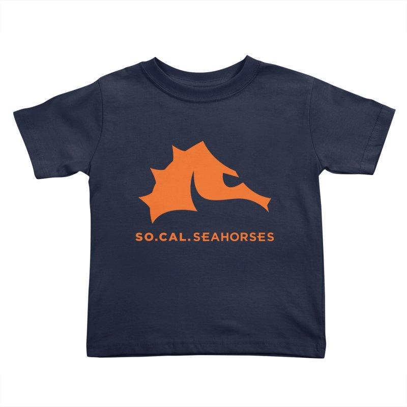 Seahorses Mascot / Watermark - Orange Kids Toddler T-Shirt by SEAHORSE SOCCER's Artist Shop