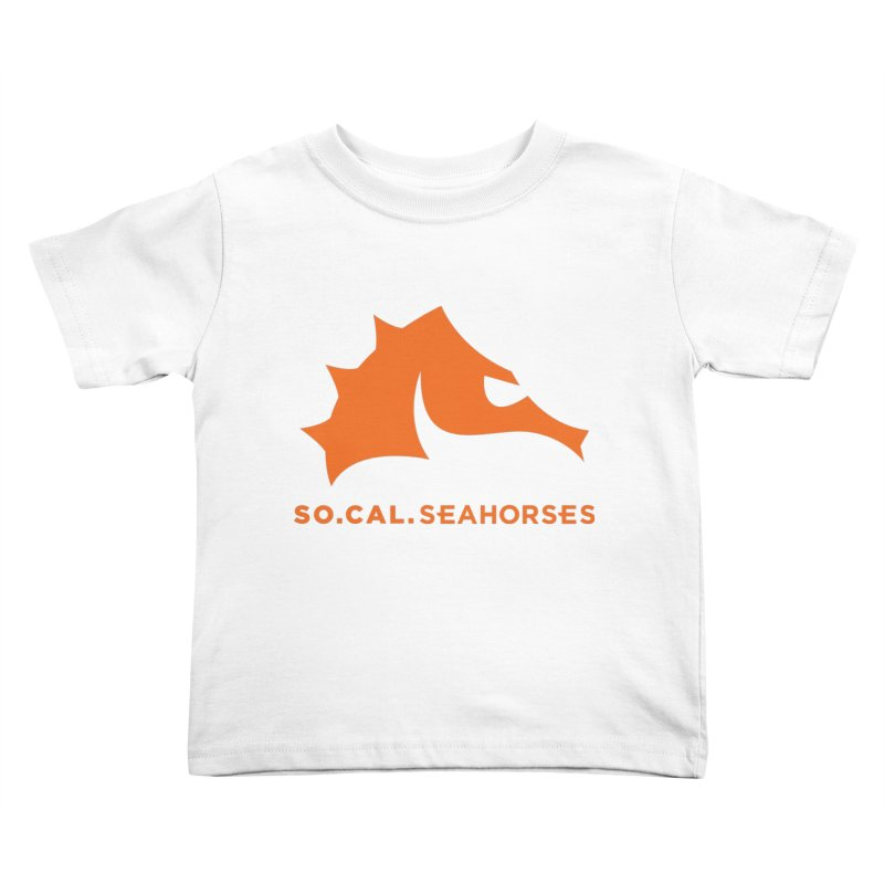 Seahorses Mascot / Watermark - Orange Kids Toddler T-Shirt by SEAHORSE SOCCER's Artist Shop