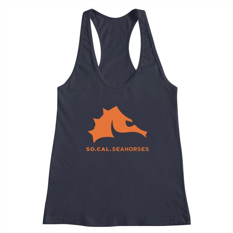 Seahorses Mascot / Watermark - Orange Women's Tank by SEAHORSE SOCCER's Artist Shop