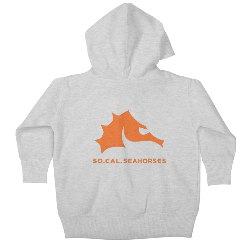 Seahorses Mascot / Watermark - Orange Kids Baby Zip-Up Hoody by SEAHORSE SOCCER's Artist Shop
