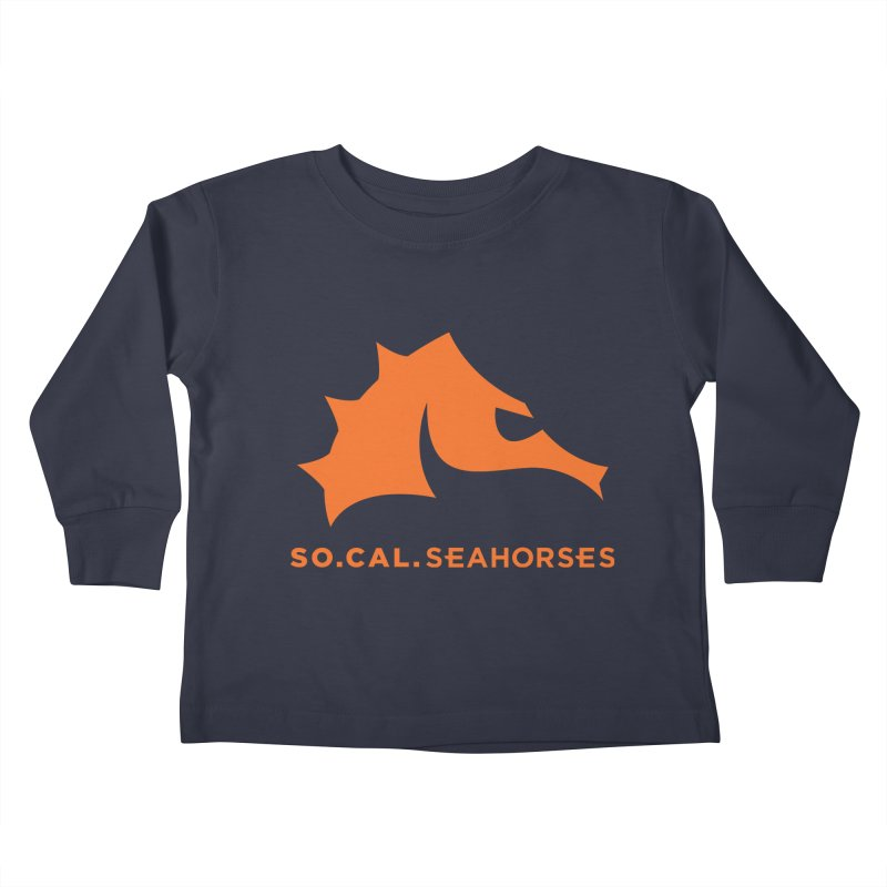 Seahorses Mascot / Watermark - Orange Kids Toddler Longsleeve T-Shirt by SEAHORSE SOCCER's Artist Shop