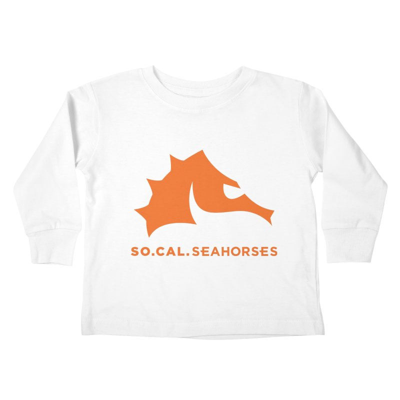 Seahorses Mascot / Watermark - Orange Kids Toddler Longsleeve T-Shirt by SEAHORSE SOCCER's Artist Shop