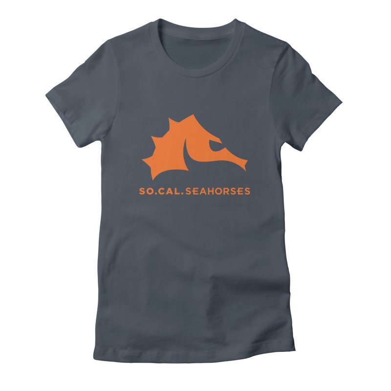 Seahorses Mascot / Watermark - Orange Women's T-Shirt by SEAHORSE SOCCER's Artist Shop