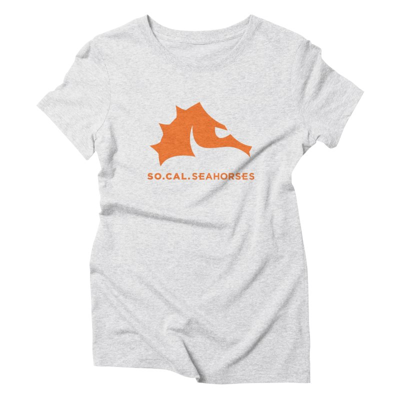 Seahorses Mascot / Watermark - Orange Women's Triblend T-Shirt by SEAHORSE SOCCER's Artist Shop