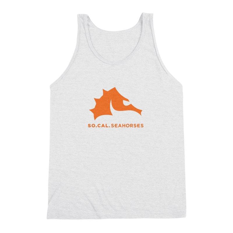 Seahorses Mascot / Watermark - Orange Men's Triblend Tank by SEAHORSE SOCCER's Artist Shop
