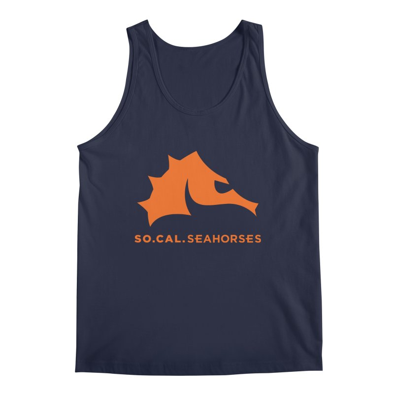 Seahorses Mascot / Watermark - Orange Men's Regular Tank by SEAHORSE SOCCER's Artist Shop