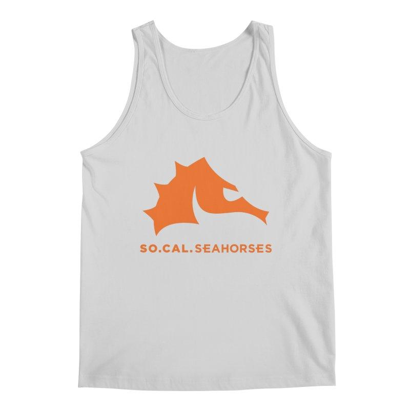 Seahorses Mascot / Watermark - Orange Men's Regular Tank by SEAHORSE SOCCER's Artist Shop