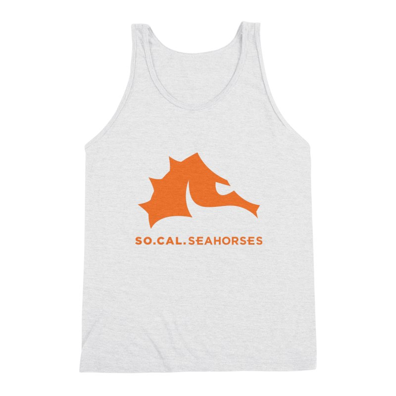 Seahorses Mascot / Watermark - Orange Men's Tank by SEAHORSE SOCCER's Artist Shop