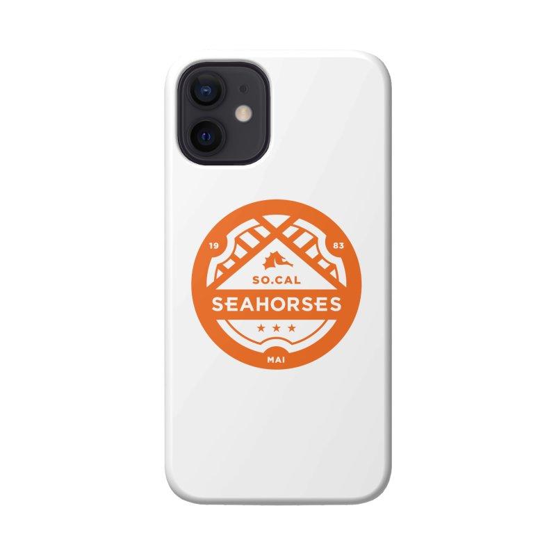 Seahorse Crest - Orange Accessories Phone Case by SEAHORSE SOCCER's Artist Shop