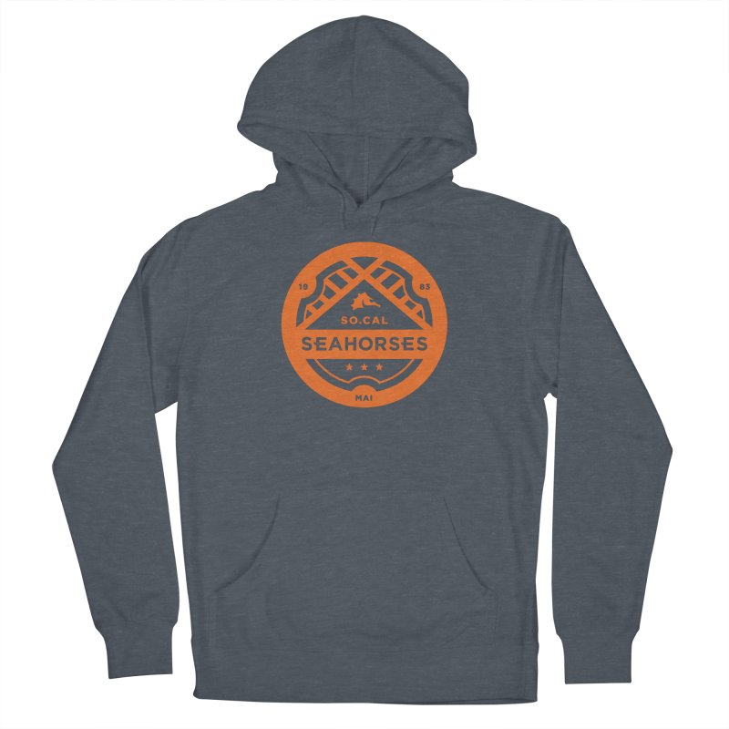 Seahorse Crest - Orange Women's Pullover Hoody by SEAHORSE SOCCER's Artist Shop