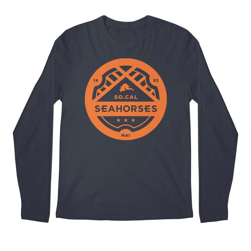 Seahorse Crest - Orange Men's Longsleeve T-Shirt by SEAHORSE SOCCER's Artist Shop