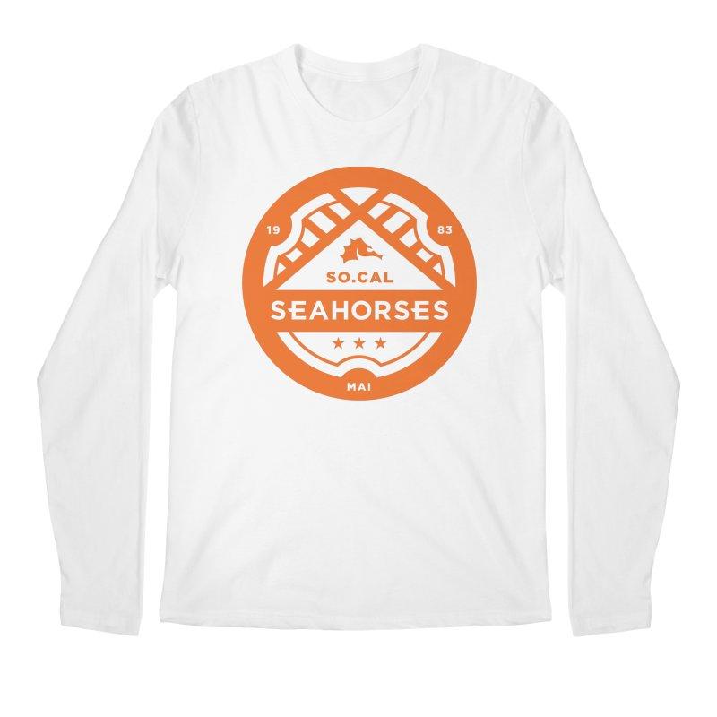 Seahorse Crest - Orange Men's Regular Longsleeve T-Shirt by SEAHORSE SOCCER's Artist Shop