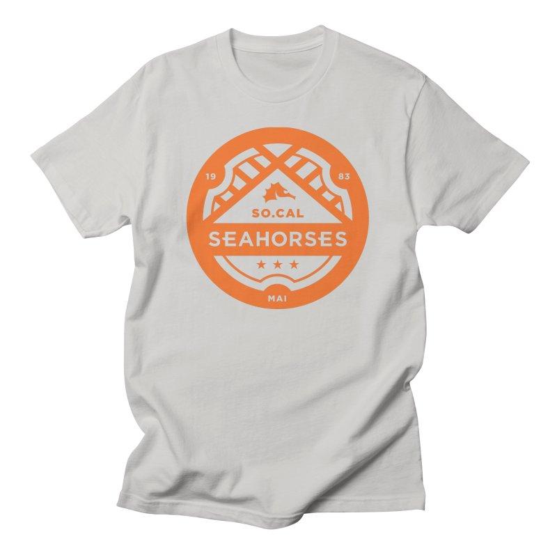 Seahorse Crest - Orange Men's T-Shirt by SEAHORSE SOCCER's Artist Shop