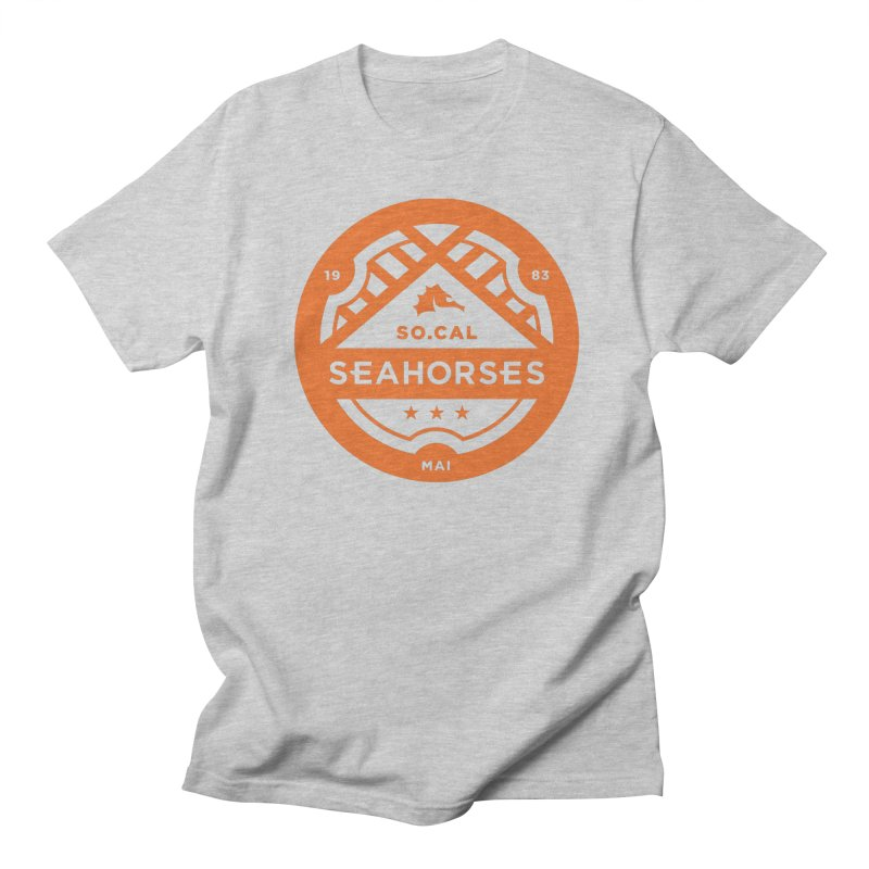 Seahorse Crest - Orange Men's Regular T-Shirt by SEAHORSE SOCCER's Artist Shop